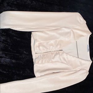 Long sleeve crop top fitted